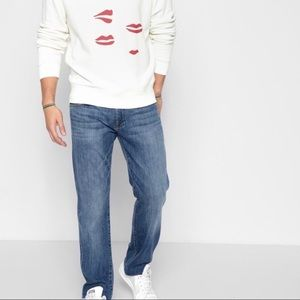 7 For All Mankind Standard Buttonfly Jeans